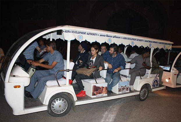 Chartered Golf Carts For Taj Visit